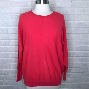 J. Crew Collection Cashmere Seamed Sweater Red M